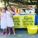 Around the Alex's Lemonade Stand Foundation office, hosting lemonade stands is the family business. It started with Alex's first DIY front yard lemonade stand and has now grown to include tens of thousands of lemonade stands hosted by families, kids, businesses and community groups all around the world!
