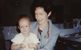 Jennifer Toth and her nurse, Pat Brophy, in 1995.
