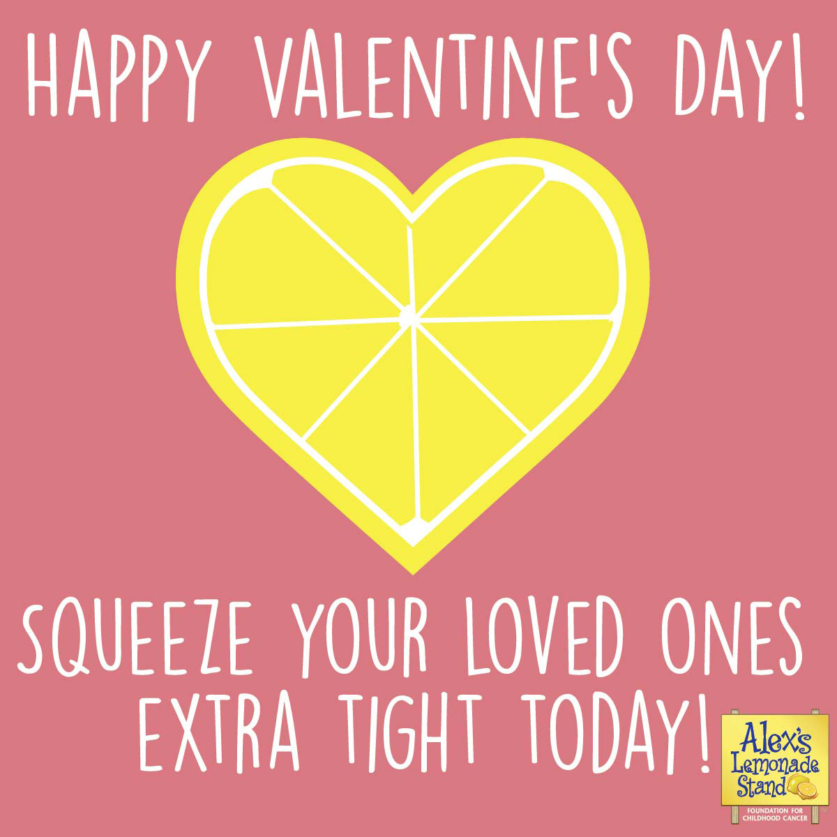 Happy Valentine's Day! Squeeze your loved ones extra tight today!